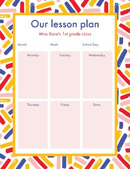 Our Lesson Plan - Weekly Planner item