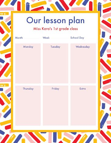 Our Lesson Plan - Planner template