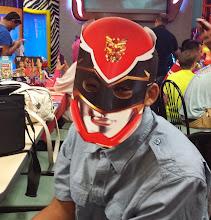 Photo: Jihad and his mask