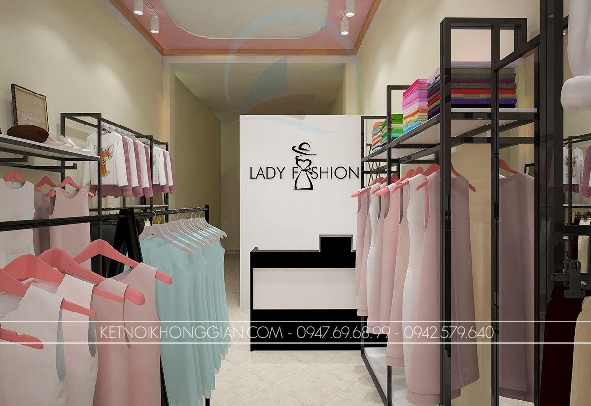 thiết kế shop thời trang công sở diện tích nhỏ