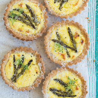 Asparagus & Lemon Ricotta Tartlets.