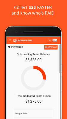 RosterBot Mobile Team Manager - screenshot