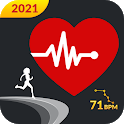 Heart Rate Monitor: Pulse Checker & Step Counter icon