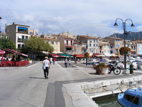 Photo: We have a delightful lunch on a terrace here, an area full of shops and restaurants.