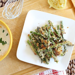 Lemon Dijon Crusted Asparagus Fries