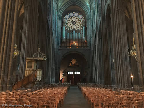 Clermont-Ferrand Cathedral: Dark, Gothic, and Imposing // Pipe organ