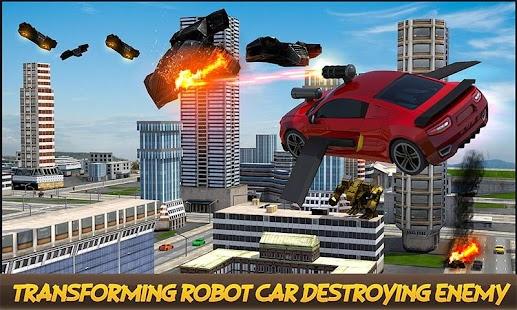 Car Transformation Futuristic Metallic Robots War - náhled