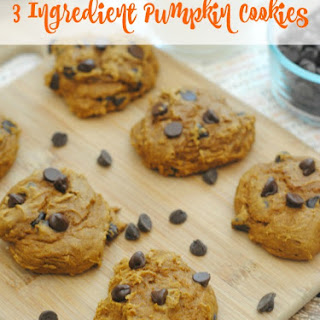 3 Ingredient Pumpkin Cookies.