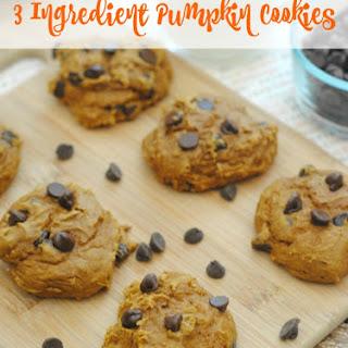3 Ingredient Pumpkin Cookies.