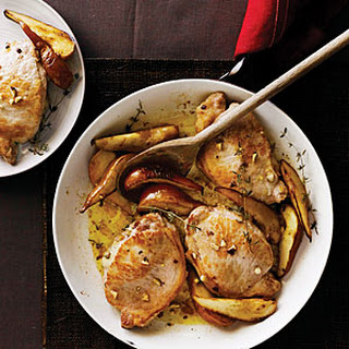 Gorgonzola-Stuffed Pork Chops with Pears