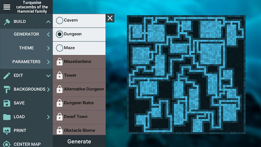 ProDnD Tabletop Game Manager and Dungeon Generator  screenshots 1