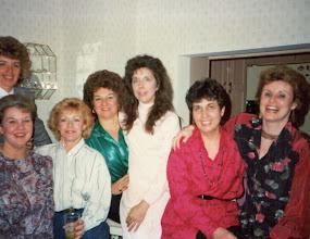 Photo: Jan 28, 1989. Margie Van Essendelft, Margie Tangle, Susan Peters, Bobbie McCoy, Lynn R., Jeanne Fusco, Carol Beebe