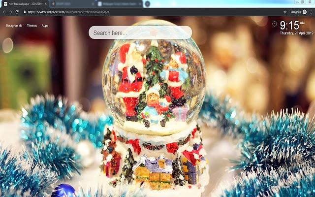 Christmas Countdown New Tab HD Wallpaper