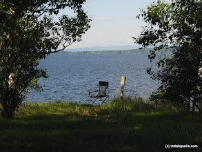 Photo: Seat on the shore at Woods Island State Park by Matt Parsons