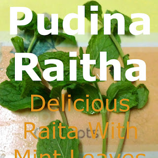 Pudina raitha, Delicious raita with mint leaves.
