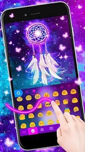 Galaxy Dream Catcher Keyboard Theme - náhled