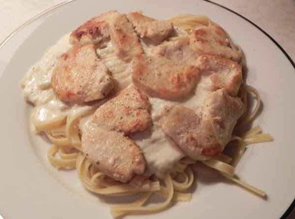 Cook your Fettuccine according to directions on box.  When it is al dente...
