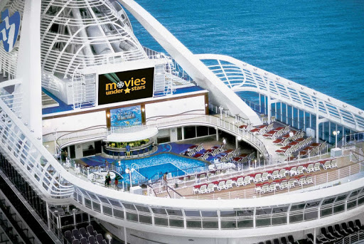 Watch Movies Under the Stars on deck on a Princess cruise.