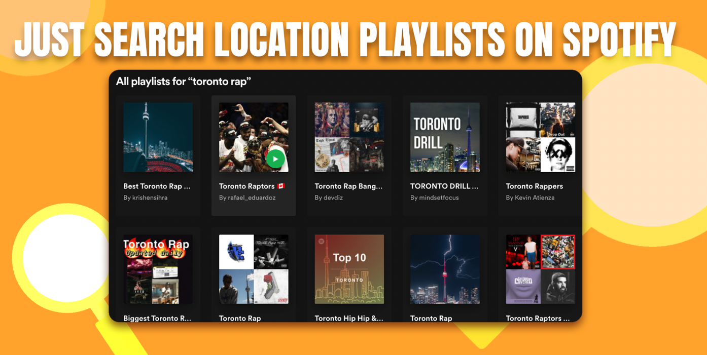search for spotify playlists to submit to