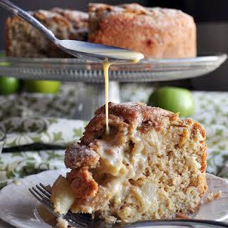Irish Apple Cake ~ Apple Cake with Custard Sauce.