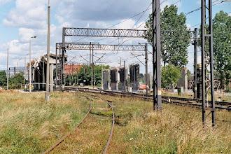 Photo: Ruiny rozebranego wiaduktu {Toruń Wschodni; 2003-08-25}