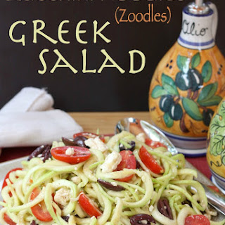 Zucchini Noodles (Zoodles) Greek Salad