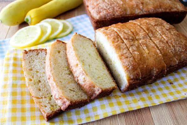 Lemony Summer Squash Bread Cut Into Slices.