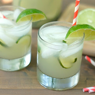 Sparkling Cucumber-Basil Limeade Recipe