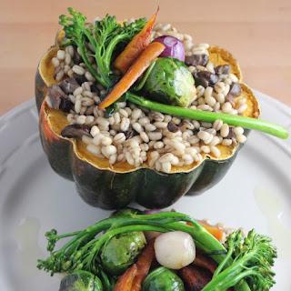 Vegetarian Barley Stuffed Squash.