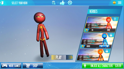 Grand Stickman Rope Hero Crime City screenshot 15