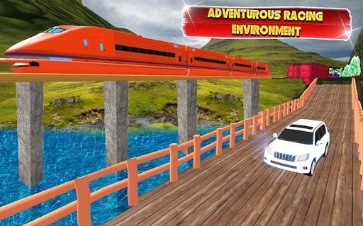 Train vs Prado Racing 3D  screenshots 2