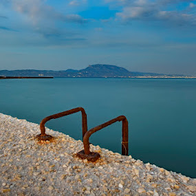 m by Nick Antonopoulos - Landscapes Waterscapes ( water, old, mountain, blue, sea,  )