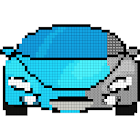 Cars Color by Number - Pixel Art, Sandbox Coloring icon