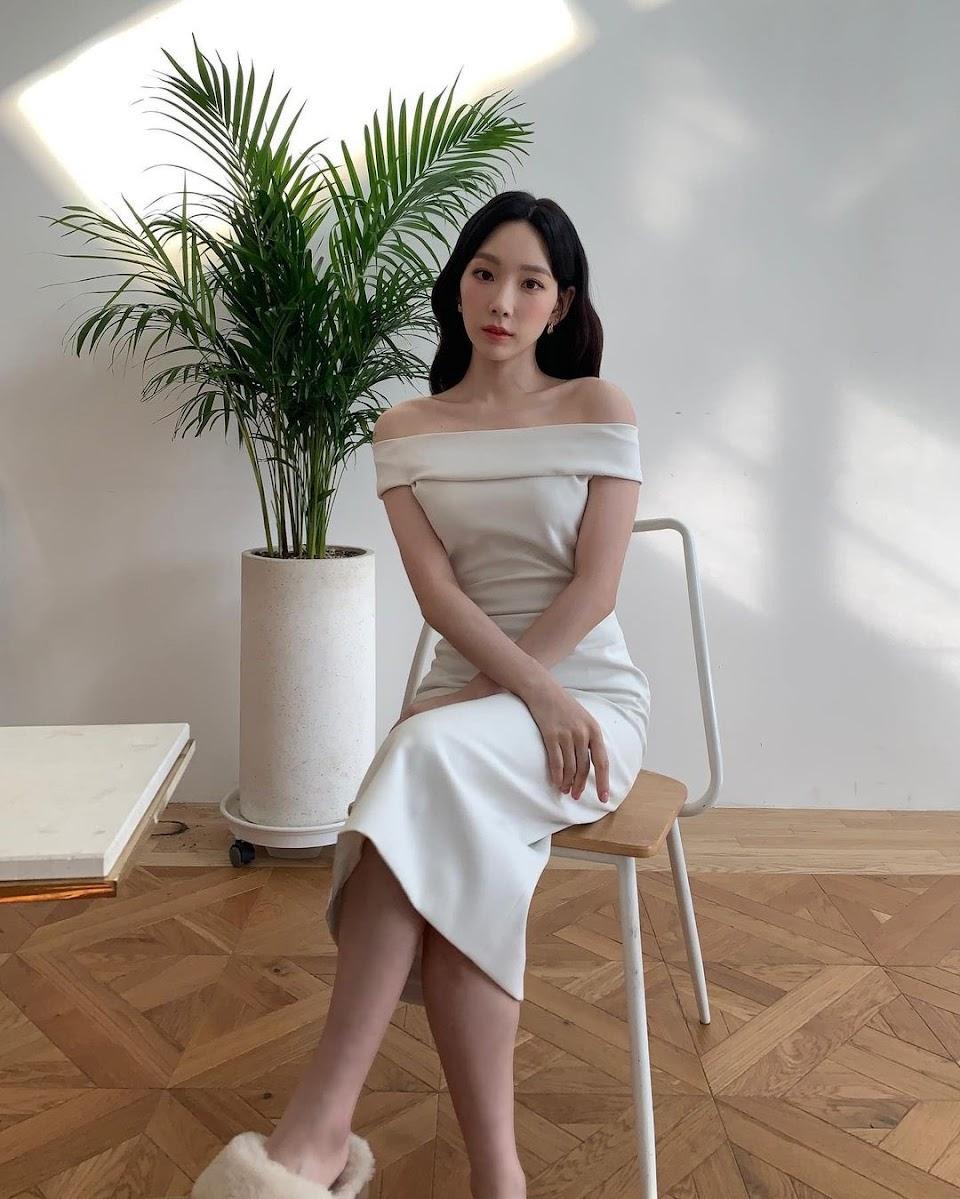 taeyeon white dress