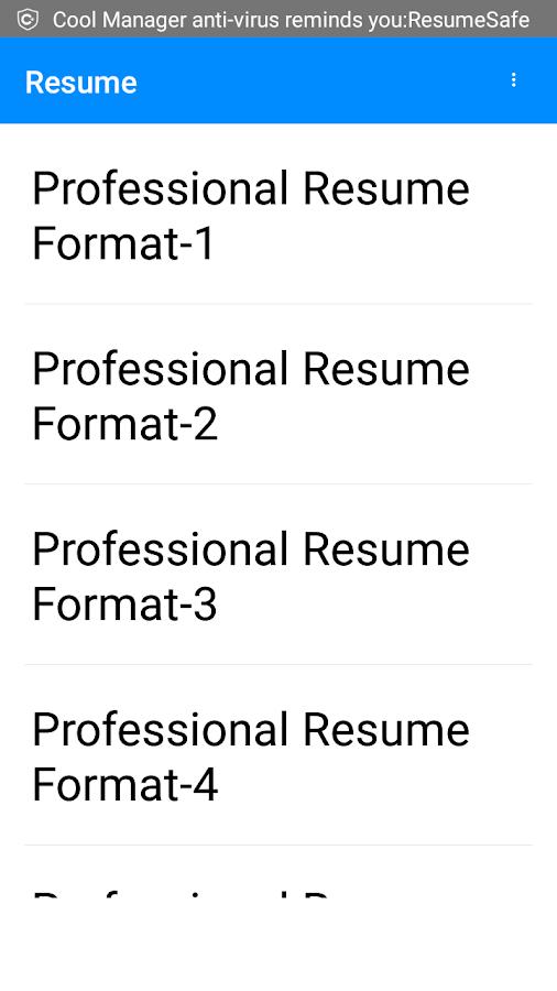 free resume word templates easily download screenshot