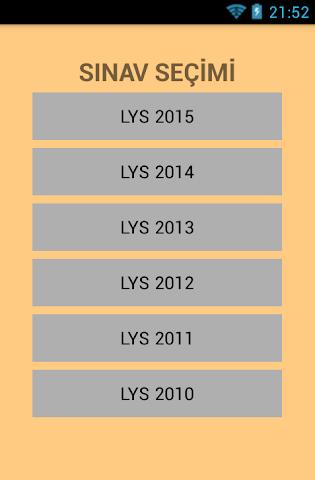 android LYS2 Fen Bilimi Çıkmış Sorular Screenshot 0