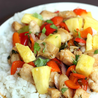 Sweet and Spicy Chipotle Chicken Stir-Fry.