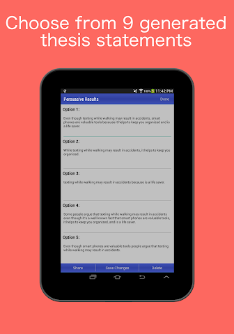 android Thesis Generator Screenshot 5