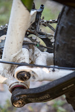 Photo: the bottom hinge needed widening, too