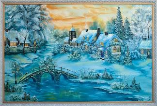 Photo: Элеонора Обухова, Рождественская сказка, 120х80см, холст, масло, по мотивам Т. Кинкейда