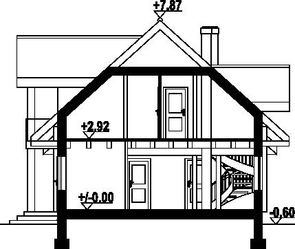 Milicz 54 dw - Przekrój