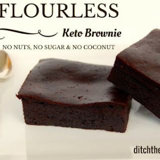 Flourless Keto Brownie.