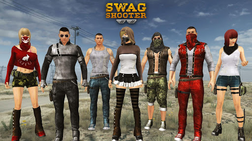 Swag Shooter - Online & Offline Battle Royale Game 1.2 APK MOD screenshots 1
