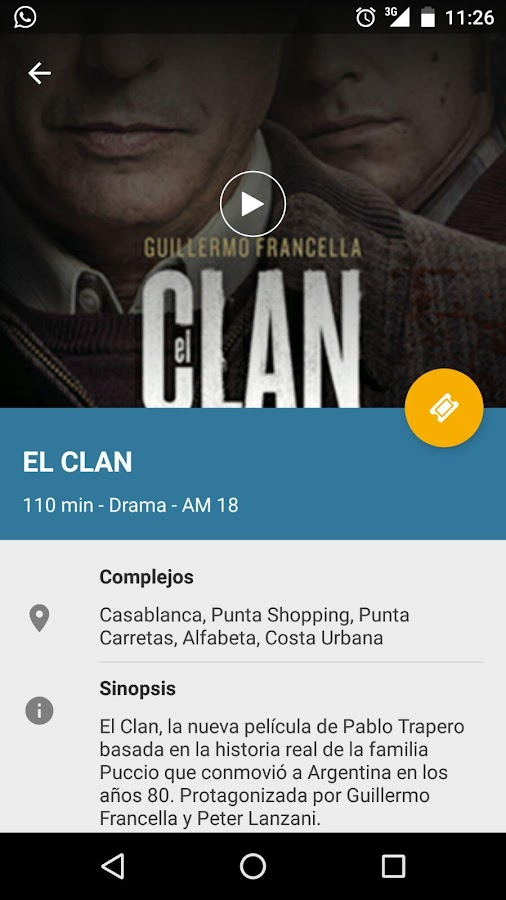 LIFE Cinemas: captura de pantalla