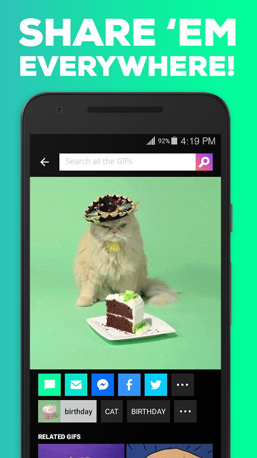 GIPHY. All the GIFS- screenshot