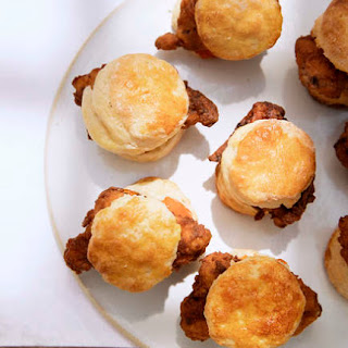 Fried Chicken Biscuits With Red Pepper Jelly.