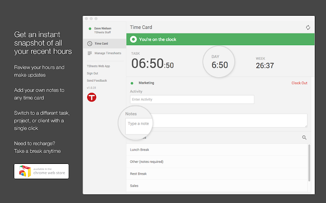 TSheets Time Tracking