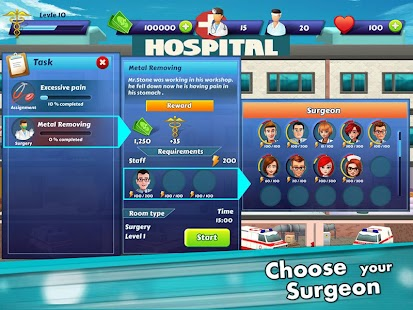 Hospital Manager - Doctor & Surgery Game Hack for the game