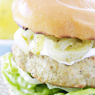 Lemon Pesto Turkey Burgers Recipe