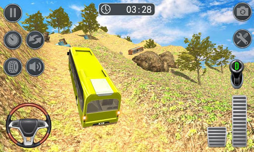 Hill Bus Climbing Sim 2019 - Offroad Bus Driving  captures d'écran 2